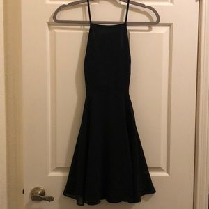 Silence + Noise black backless dress